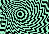 Geometric Illusion Background, Black And Green Curved Lines, Vector Illustration, Eps 10 poster