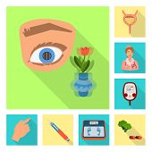 Isolated Object Of Symptom And Disease Logo. Collection Of Symptom And Treatment Vector Icon For Sto poster