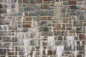 pic of gneiss  - Old stone wall texture can be used as a background - JPG