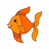Catching Bass Fish. Fish Color. Vector Fish. Graphic Fish. Fish On A White Background. Fish On A Lig poster