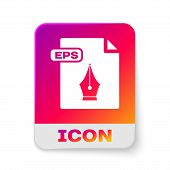 White Eps File Document. Download Eps Button Icon Isolated On White Background. Eps File Symbol. Rec poster