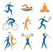 Постер, плакат: Спортивные значки