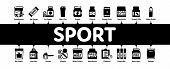 Sport Nutrition Cells Minimal Infographic Web Banner Vector. Sport Nutrition For Sportsmen Linear Pi poster