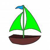 Cruise Ship Logo Template Vector Icon Illustration Design, Ship Logo, Nautical Sailing Boat Icon Vec poster