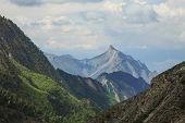 A Sharp Peak In The Mountains. Mountain Peak. poster