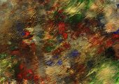 Abstract Multi Color Background, Hand-painted Texture, Splashes, Drops Of Paint, Paint Smears. Desig poster