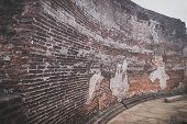 Polonnaruwa, Sri Lanka - 7 August 2019. The Part Of The Wall In The Polonnaruwa Vatadage - Ancient B poster