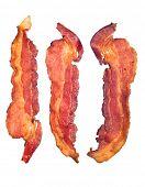 stock photo of bacon  - Three cooked - JPG