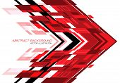 Abstract Red Black Arrow Geometric Direction On White Design Modern Futuristic Technology Background poster