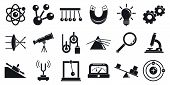 Physics Icons Set. Simple Set Of Physics Vector Icons For Web Design On White Background poster