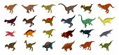 Dinosaur Icons Set. Isometric Set Of Dinosaur Vector Icons For Web Design Isolated On White Backgrou poster