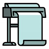 Commercial Plotter Icon. Outline Commercial Plotter Vector Icon For Web Design Isolated On White Bac poster