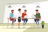 Teamwork, Team Building Flat Illustration. Coworking Workplace, Workspace Isolated Cliparts Pack. Co poster