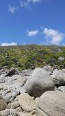 stock photo of promontory  - rocks at the Picnic Bay - JPG