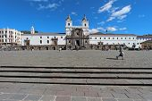 Front Fa�ade Of The Church And Convent Of San Francisco In Quito, Ecuador