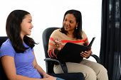 stock photo of counseling  - Person in need having a counseling session - JPG