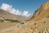 picture of skardu  - Braldu River in the Karakorum Mountains near Askole Pakistan - JPG