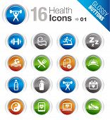 stock photo of physical education  - Glossy Buttons  - JPG