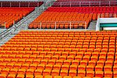 foto of grandstand  - Seat grandstand in an empty stadium   - JPG