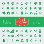 image of solar battery  - Ecology Flat Icon Set - JPG