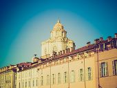 stock photo of torino  - Vintage looking Baroque church of San Lorenzo in Turin  - JPG