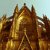 stock photo of koln  - Vintage look Koelner Dom  - JPG