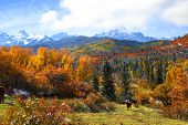 Scenic mount Sneffles landscape in Colorado