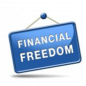 financial freedom and economic independence, self sufficient icon.
