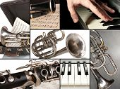 picture of clarinet  - Classical music collage - JPG