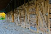 stock photo of burlington  - Outbuilding with horse stalls in Burlington - JPG