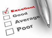 stock photo of performance evaluation  - Excellent evaluation - JPG