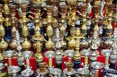 stock photo of shisha  - narguileh shisha water pipes detail in cairo in egypt - JPG