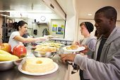 stock photo of charity relief work  - Kitchen Serving Food In Homeless Shelter - JPG