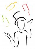 picture of juggler  - Elegant juggler - JPG