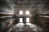 picture of malt  - an old desolate brewery malt dryer room - JPG