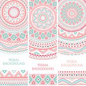 stock photo of aztec  - Tribal ethnic vintage banners - JPG