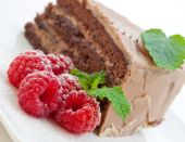Fresh Chocolate Cake With Raspberries