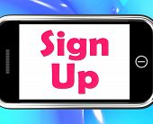 Sign Up On Phone Shows Register Online