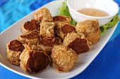 pic of crab-cakes  - deep fried crab meat roll cake Chinese style Food