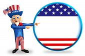 uncle sam isolated white background