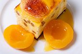 Cheese Casserole With Raisins And Peaches Top View