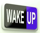 Wake Up Button Awake And Rise