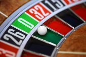 picture of roulette table  - Roulette wheel close up - JPG