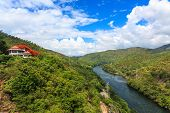 picture of hydro-electric  - Hydro Power Electric Dam in Tak Thailand - JPG