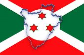 picture of burundi  - Map of Burundi - JPG