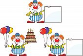 Funny Clown Cartoon Characters