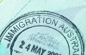 Passport Stamp For Travel Concept Background