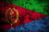 stock photo of eritrea  - grunge flag of Eritrea with capital in Asmara - JPG