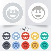 picture of lol  - Smile face sign icon - JPG