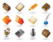 picture of inkpot  - High detailed realistic icons for business office and stationery - JPG